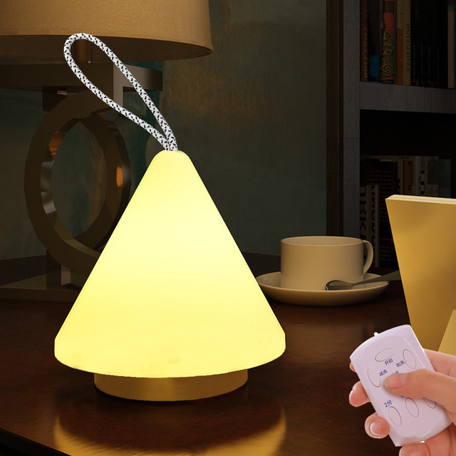 Simple Modern Style Table Lamp Bedside Bedroom Night Light Hand Lamp Torch  Flashlight For Outdoor Camping