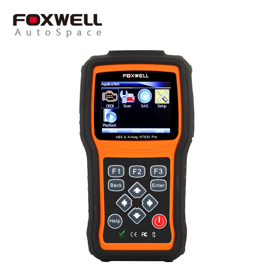 Prix pour Foxwell NT630 Pro Moteur Scanner + ABS + SRS Airbag + SAS Volant Angle Dispositif Outil de Réinitialisation OBD2 OBD Automobile Scan Scaner
