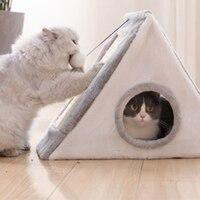 Foldiing Cat Climbing Wall Litter Pet Deep Sleeping Nest Closed Cats Tent Winter Warm Shelf Cat House Scratch Board Outdoor 709