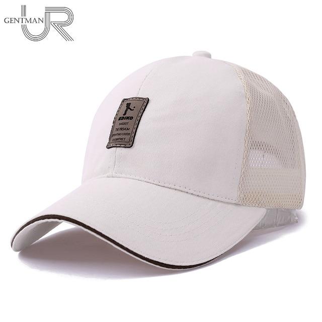 ba232951 US $7.25  New Outdoor Sport Cap Cotton Baseball Cap Men Women Adjustable  Hat Cap Casual Leisure Hat Plain Fashion Snapback Summer Mesh Cap-in  Baseball ...