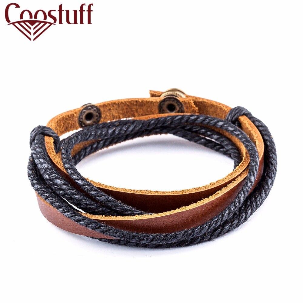 2017 new Wrap leather bracelets & bangles for women men pulseira masculina jewelry pulseira feminina bileklik bracelet femme