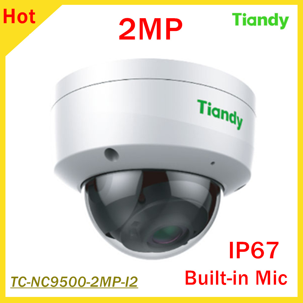 2MP English Version Tiandy IP Camera 1/2.7 CMOS 1080P IR 10-20M h.264 IP67 Outdoor Network dome camera Built-in Mic
