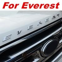 For Everest Car ACCESSORIES 3D car Sticker Letters Hood Emblem Chrome Plated Logo Badge For Ford Everest plating