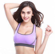 High Quliaty Fashion Sexy Women Padded Bra Stretch brassiere Push Up Exercise Bras Top Seamless Padded