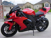 New Cheap Motorcycle factory body fairing for 2008 2009 2010 Kawasaki ZX10R red black road Fairings set Ninja ZX 10R 08 09 10