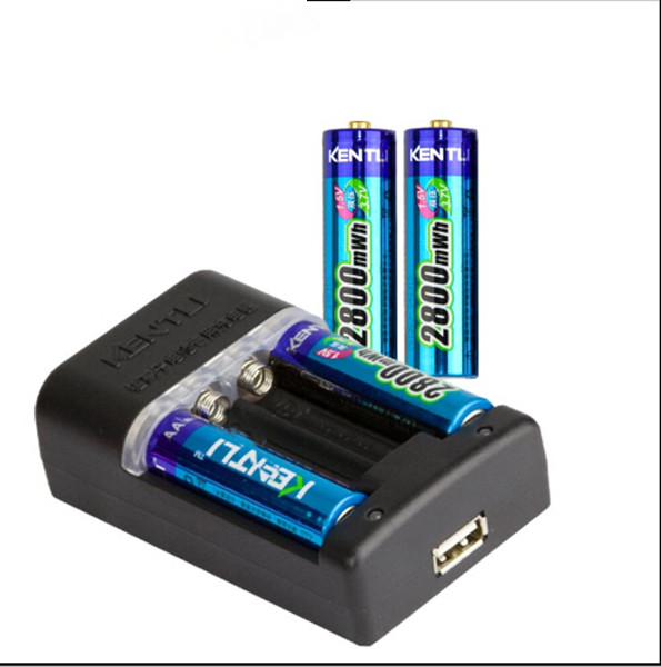 4 pcs 1.5v AA rechargeable Li-polymer li-ion polymer lithium battery + Intelligent Fast Charger OWN IT AND SAVE YOUR MONEY/TIME new 8pcs 1 5v aa lithium polymer rechargeable battery 3000mwh 4 slots usb charger 2a li ion cell replace ni mh type battery