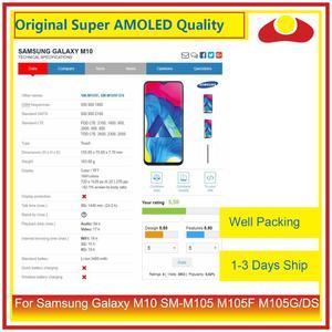 Image 2 - 10 sztuk/partia dla Samsung Galaxy M10 LCD SM M105 M105F M105G/DS wyświetlacz LCD z ekranem dotykowym panel digitizera Pantalla pełna