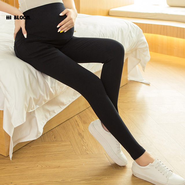 Elastic Waist Brand Maternity Jeans Winter Spring Cotton Pant for Pregnant Women Promotion Price High Waist Maternity Overalls