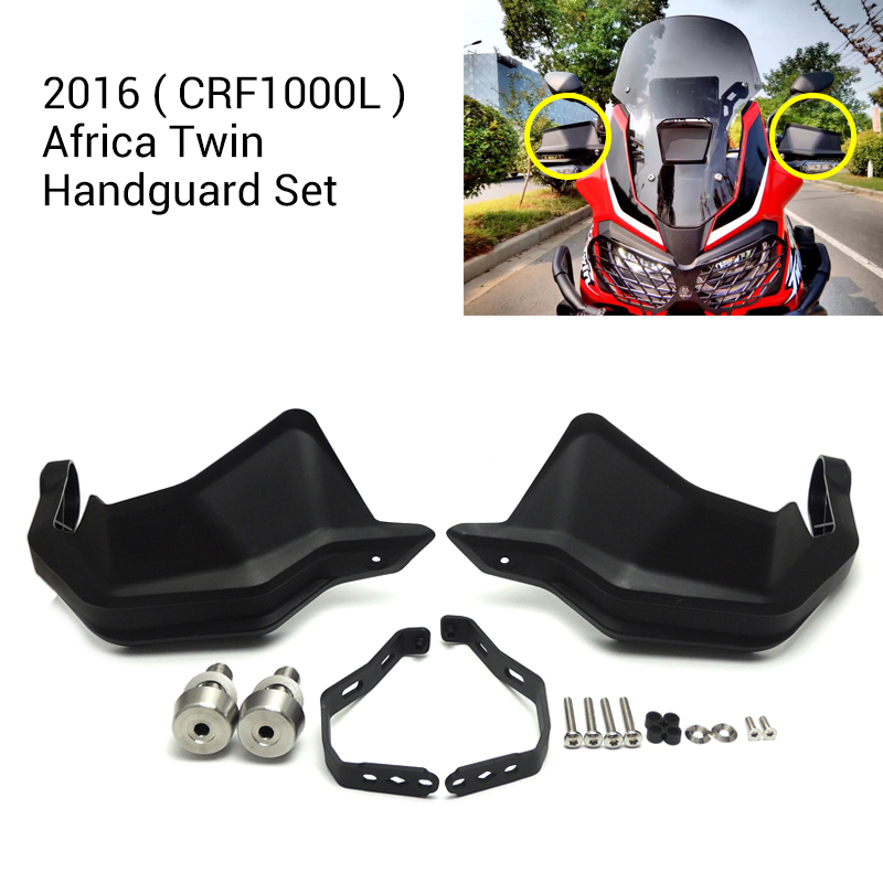 KEMiMOTO New 2016 Africa Twin CRF1000L Levers Guard Motorcycle Hand Guards Handguard Set for Honda 2016 CRF1000L Africa Twin