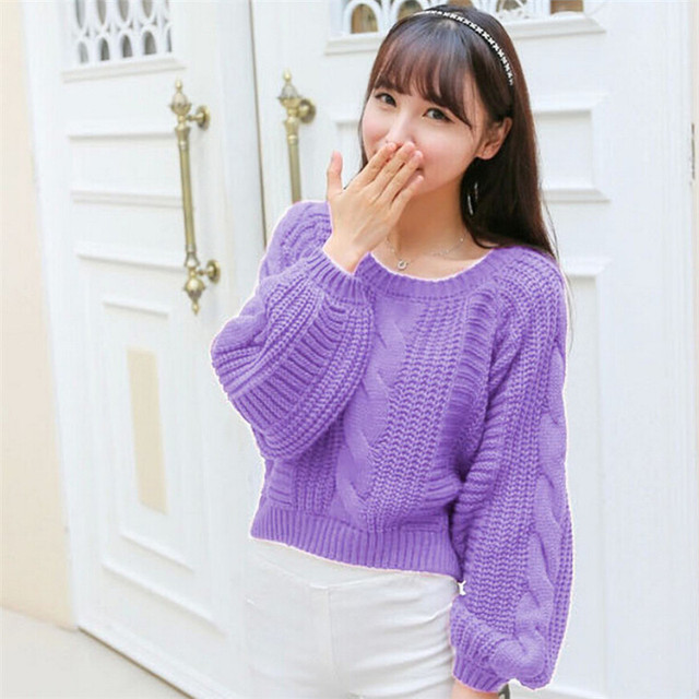 Aliexpress.com : Buy Candy Colors Spring Sweater Women's Lantern ...