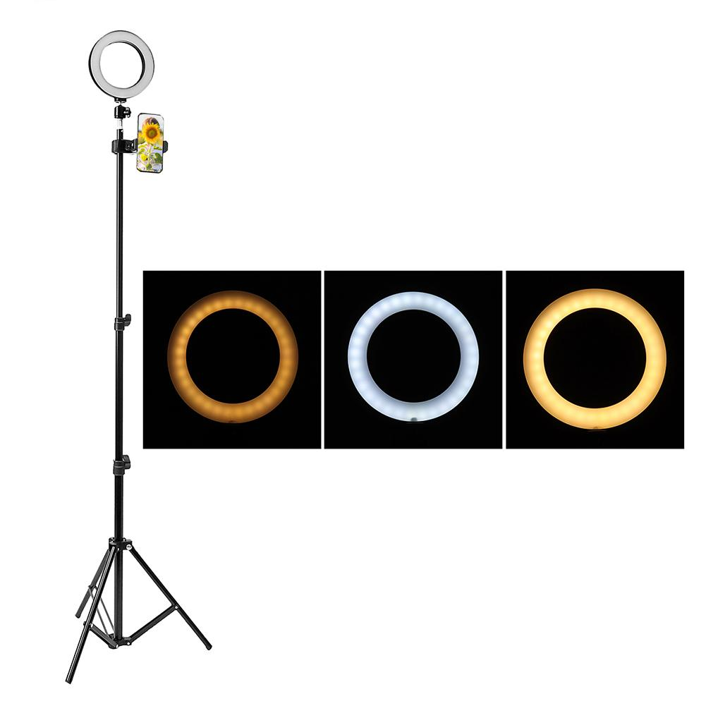 Telescopic New Dimmable Ring Fill Light Makeup Studio LED Photo Lamp Stand Tripod
