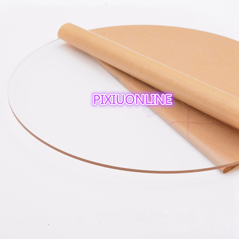 1PCS YT771  Acrylic Board  Transparent Organic Glass DIY Plastic Building Model Material   Thickness 3 Mm  5/8/10 Cm In Diameter