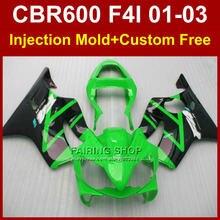 Body repair parts for HONDA CBR600 F4I 2001 2002 2003 green black fairing kit CBR 600 f4i 01 02 03 cbrf4i 01 02 03 ABS fairings