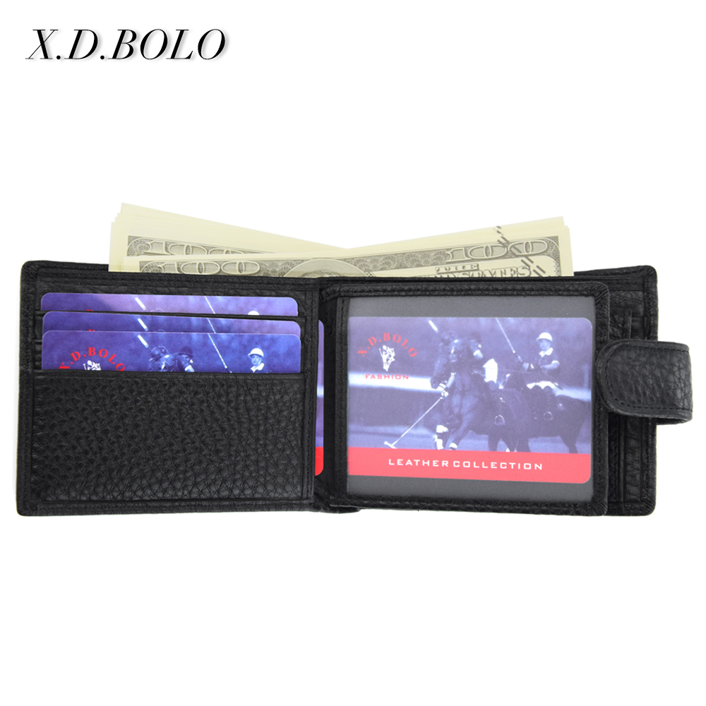 X.D.BOLO New Design Genuine Cowhide Wallet for Men with Coin Holder