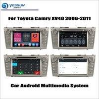 Для Toyota Camry XV40 2011 2006 автомобильный Радио CD dvd плеер gps навигация Android система HD 8 экран мультимедиа