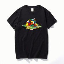 2019 Summer New Men T-Shirts The Big Bang Theory Printed Stylish Design Rubik Cube T Shirts Casual 100% Cotton Short Sleeve Tees