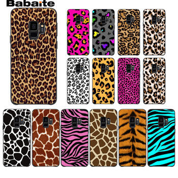 White Beige Grey Leopard DIY Painted Phone Accessories Case For Samsung Galaxy s8 s9 plus note 8 note9 s7 s6edge cover Babaite image