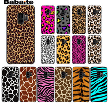 White Beige Grey Leopard DIY Painted Phone Accessories Case For Samsung Galaxy s8 s9 plus note 8 note9 s7 s6edge cover Babaite