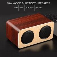 Essidi High Bass 10W High Power Wood Bluetooth Speaker Box Computer TV Cell Phones Stereo Music Wireless Speaker