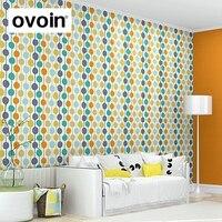 Moderne Contemporain Couleur Cercles Papier Peint À Rayures Création Polka Dot Motif Enfants Mur Rouleau de Papier Pour Chambre Salon