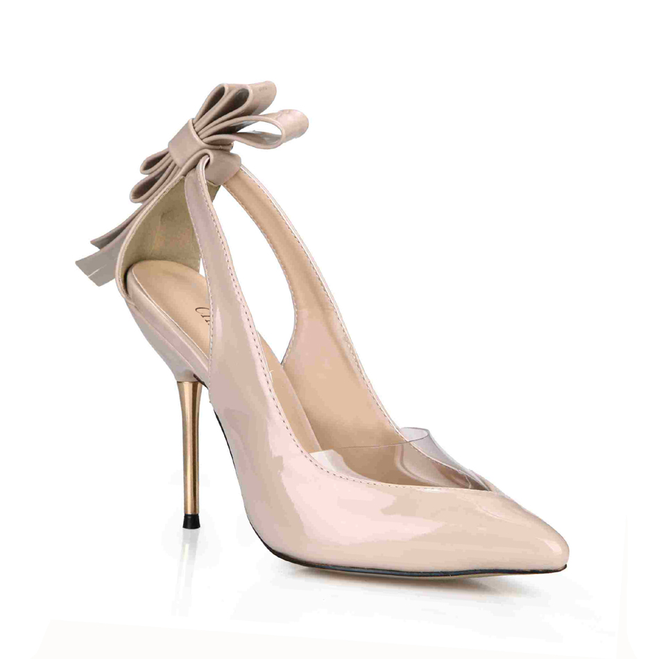 CHMILE CHAU Sexy Party Shoes Women Pointed Toe Stiletto High Heels Flower Bowtie Ladies Pumps Zapatos Mujer Plus Sizes 3845D 7c in Women 39 s Pumps from Shoes