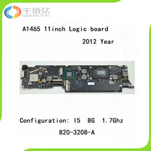 """A1465 Logic Board i5 1.7GHz 8GB for MacBook Air 11.6"""" 2012 Year Motherboard A1465 820-3208-A"""