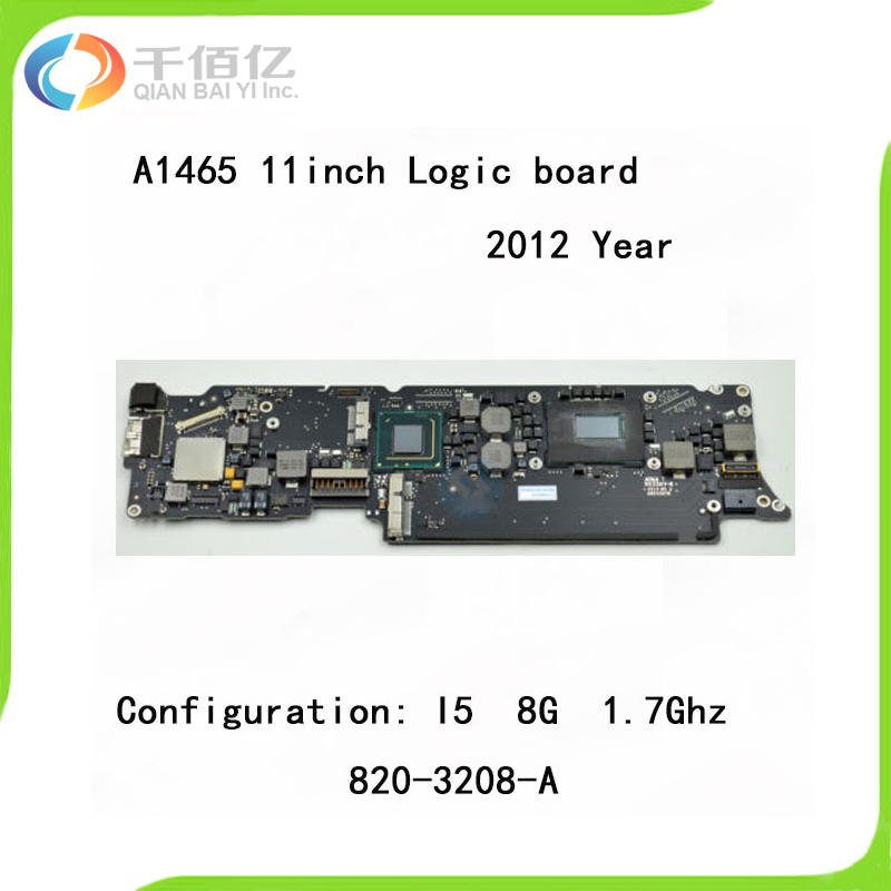 Laptop A1465 Logic Board i5 1.7GHz 8GB for Macbook Air 11.6'' Motherboard Compatible 2012 Year 820 3208 A