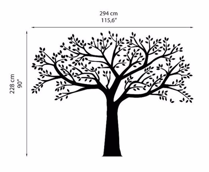 ZN Brand Family Tree Wall Decals oversized Photo Frame Tree  Wall - Home Decor - Photo 5