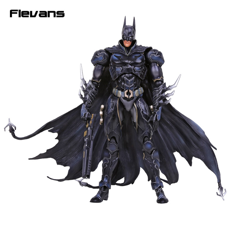 SQUARE ENIX PlayArts KAI DC COMICS NO.01 Batman PVC Action Figure Collectible Model Toy 27cm playarts kai batman arkham knight batman blue limited ver superhero pvc action figure collectible model boy s favorite toy 28cm