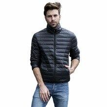 Tengo 2017 Qualität Marke Frühling Herbst Ultra Light Down 90% Weiß ente Unten Männer Jacken Mantel Männlich Unten Parkas männer tuch 7 farben