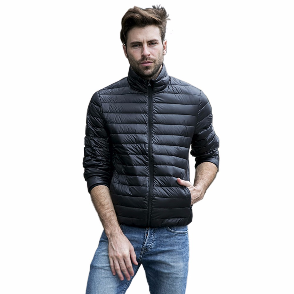 Tengo quality brand spring autumn men ultra light down 90 white duck down jacket coat male