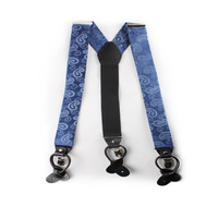 EMS OR DHL 100PCS 2017 Customized Y Type Three Clip Leather Suspenders Adult Strap Silk Dyed