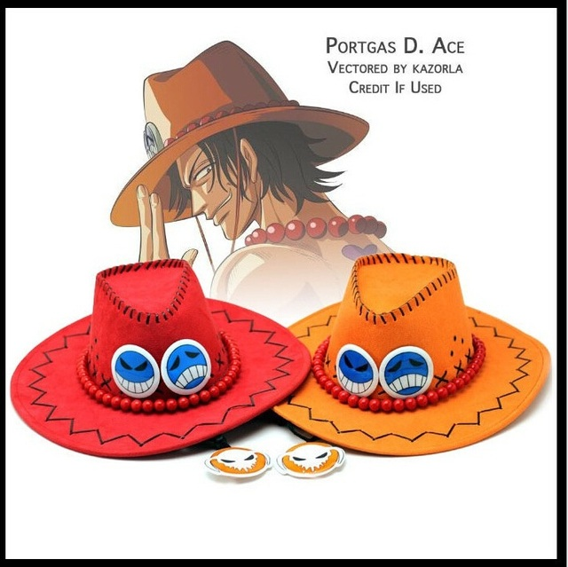Anime One Piece Hats Role Playing Birthday Gifts Christmas Funny Creative Animation Exelon Cowboy HatCosplay