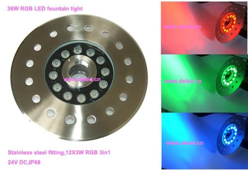 New Design !! IP68,good quality,36W LED RGB underwater light,LED RGB fountain light,24V DC, DS-10-4-36W-RGB,stainless steel ce ip68 good quality high power 27w rgb led pool light rgb led fountain light ds 10 31 27w rgb rgb tri chip 3in1 12v dc