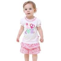 Baby Meisjes Kleding Sets Pasgeboren Baby Meisjes Kleding Set Meisje t-shirt + Bloem Rok Outfits Voor Peuter Meisjes Kleding Pak