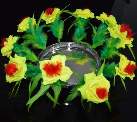 ФОТО Fire to Flower Pan(with yellow flower),stage magic trick,illusions,mentalism,gimmick,party trick,super effect