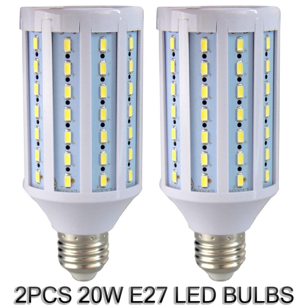 ashanks 2 stks hoge heldere fotografie verlichting lampen voor fotostudio daglicht 20 w 6000 6500 k 110 v 220 v fotografische lampen