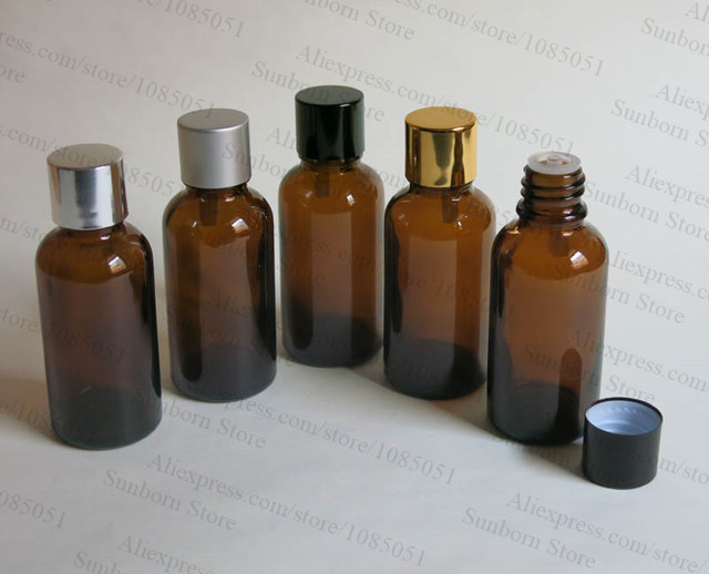 20925a831152 US $429.0 |500 x 30ml amber glass bottle with reducer dropper and metal  lid, 1 oz amber glass essential oil bottle-in Refillable Bottles from  Beauty & ...