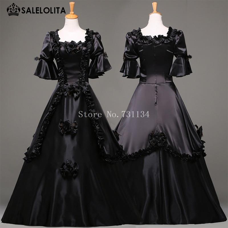 Hot Sale Black Halloween Party Dress For Women Vintage -9305