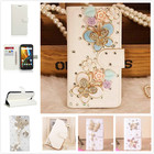 3D Diamond Rhinestone DIY New fashion Crystal Bow Bling case Flip PU Leather Wallet Stand For LG K10 Case