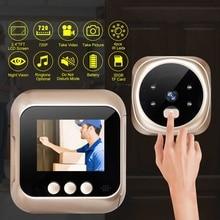 2,4 дюймовый ЖК-дисплей, дверной глазок, дверной звонок, 135 градусов, датчик движения, дверные звонки, умные бытовые Дверные Зрители, защита от взлома
