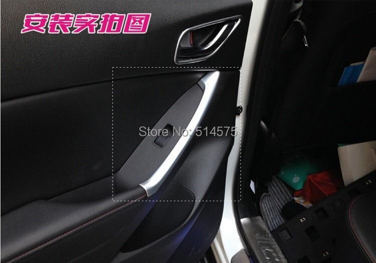 Задняя дверь Обложка Подлокотник чехол накладка для Mazda CX-5 CX5 2012 2013