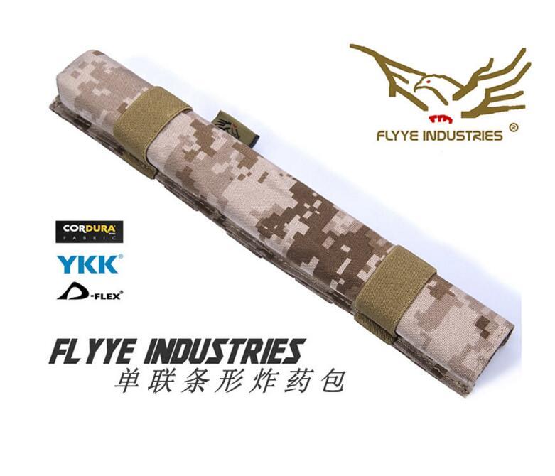 FLYYE MOLLE Single Dynamite Bar Pouch CORDURA Multicam AOR AU FG Wargame Airsoft Hunting ...