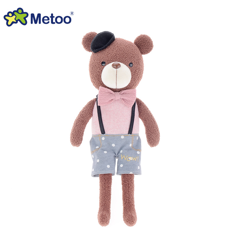 38cm Kawaii Stuffed Plush Animals Cartoon Kids Toys for Girls Children Baby Birthday Christmas Gift Bear Rabbit Metoo Doll 70cm rabbit plush animal kawaii bunny toys lovely dolls easter plush bunny dolls birthday gift flower rabbit toys plush doll