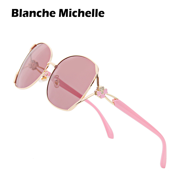 Blanche Michelle Polarized Sunglasses Women Brand Design UV400 Sun Glasses women's sunglasses oculos feminino Fashion Four leaf-in Women's Sunglasses from Apparel Accessories on AliExpress