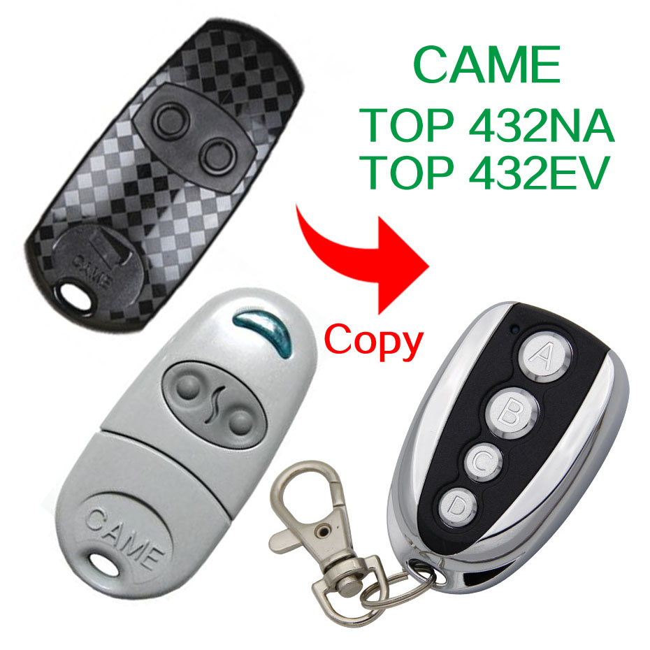 433.92Mhz Copy CAME TOP432-EV TOP432EV CAME TOP-432NA TOP432NA remote control For Universal Garage Door Gate Key Fob copy came top432na garage door remote control universal 433mhz gate remote control came top432 na