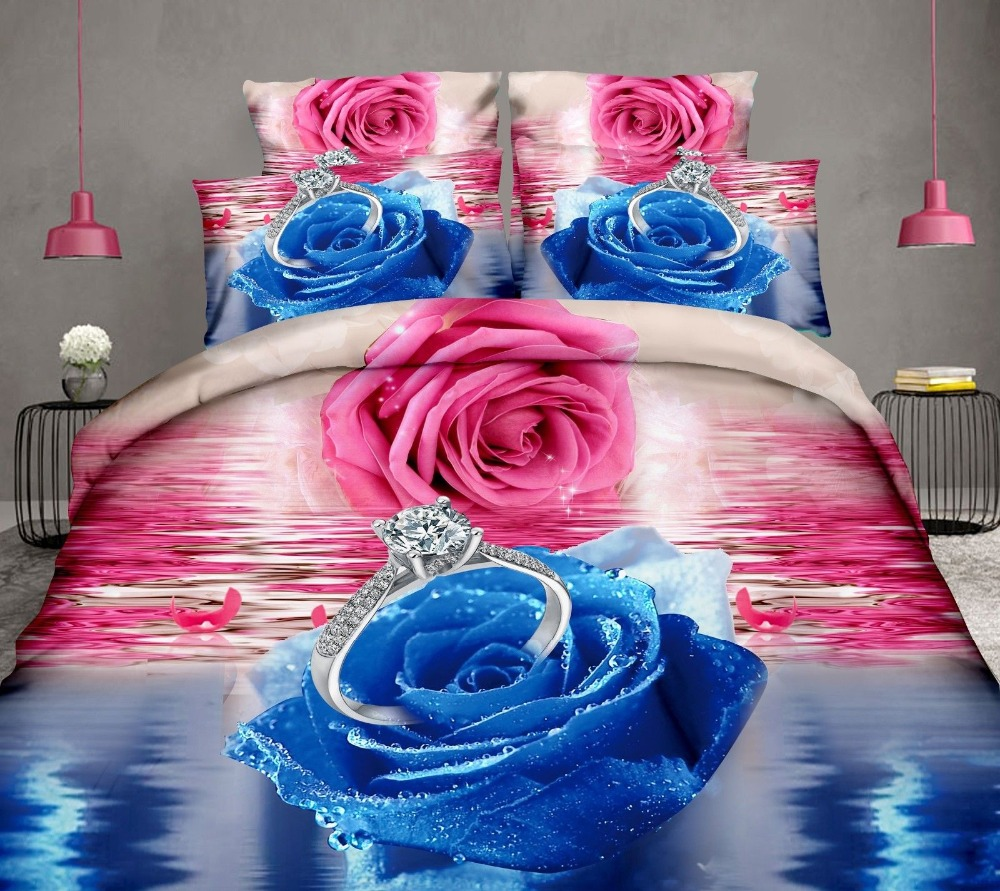3D bedding flower duvet cover set 4pcs duvet cover flat sheet 2 pillowcase 3D bedding flower duvet cover set 4pcs duvet cover flat sheet 2 pillowcase