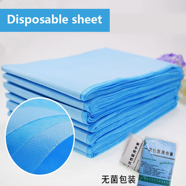 20pcs Practical Massage Beauty Waterproof Disposable Nonwoven Bed Table Cover Sheets Beauty Salon Dedicated White Blue 80X180cm