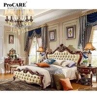 Роскошные Качество Европейский Американский стиль мебель серийный кровать для дома спальня комплект Кама