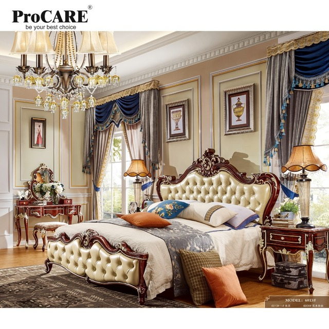 Luxury quality European American style furniture serial bed for ...